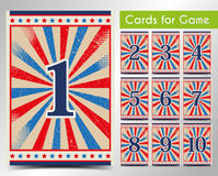 Cards for the game. Vector. Stock Image