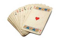 cards gammalt leka royaltyfri bild