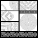 Cards with geometric patterns Stock Images