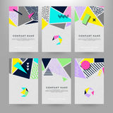 Cards with geometric shapes. Set of creative cards with geometric shapes vector illustration