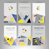 Cards with geometric shapes Royalty Free Stock Image