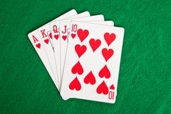 cards grönt leka för torkduk Royaltyfria Bilder