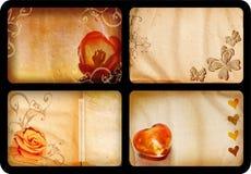 cards grunge Fotografering för Bildbyråer
