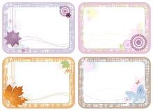 cards gulliga blom- fyra Royaltyfria Foton