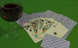 The cards had a Royal flush stock images