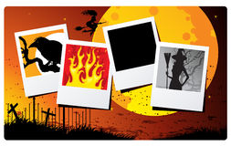 Cards of halloween. Vector illustration Stock Photography