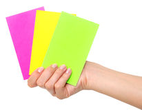Cards in a hand Royalty Free Stock Images