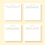 Cards Happy Day. Vector set celebration cards. Vector design elements. Art ornament holiday card. Decor flower card Vector Illustration