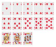Cards - hearts Stock Image