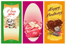 Cards for the Holidays. Royalty Free Stock Photo