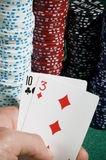 Cards iand chips Stock Images