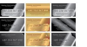 cards identitetsmetall Vektor Illustrationer