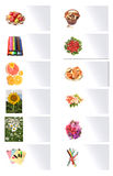 Cards with images. Of plants and subjects Stock Photo