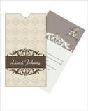 cards inbjudanbröllop vektor illustrationer