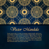 Cards or invitations with mandala pattern Royalty Free Stock Photos