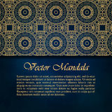 Cards or invitations with mandala pattern. Vector vintage hand-drawn highly detailed round mandala elements. Luxury lace festive ornament card. Islam, Arabic Royalty Free Stock Photos