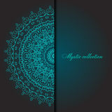 Cards or invitations with mandala pattern. Stock Photography