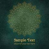 Cards or invitations with mandala pattern. Stock Image