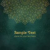 Cards or invitations with mandala pattern. Stock Photos