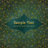Cards or invitations with mandala pattern. Royalty Free Stock Photos