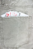 Cards in jeans pocket Stock Images