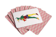 Cards and joker Royalty Free Stock Photo