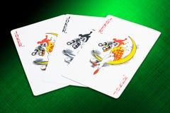cards jokers Royaltyfri Bild