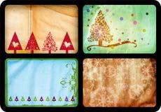 cards julgrunge Fotografering för Bildbyråer