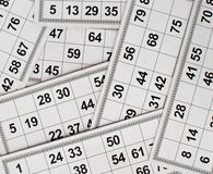 Cards and kegs for Russian lotto bingo game on white background vector illustration