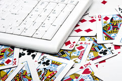 Cards and keyboard Stock Images