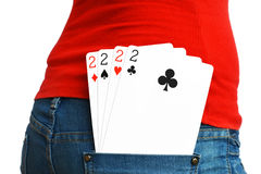 4 cards of a kind Royalty Free Stock Photos