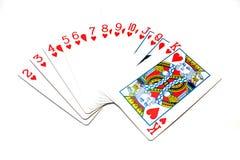 cards klassiskt leka för hjärtor Royaltyfri Foto