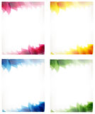 Cards with leaf pattern Stock Photography
