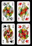 cards leka drottningar Royaltyfri Fotografi