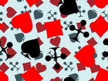 cards leka symboler Arkivbild