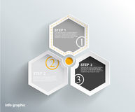 3 cards with numbers and place for your text. Vector art Royalty Free Stock Images