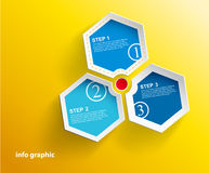 3 cards with numbers and place for your text. Vector art Royalty Free Stock Photography