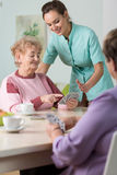 Cards in nursing house Royalty Free Stock Image