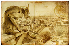 cards parisian Royaltyfri Fotografi