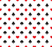 Cards pattern Stock Image