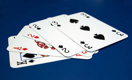 cards poker Arkivbilder