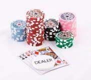 cards poker Fotografering för Bildbyråer