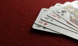cards poker Royaltyfria Foton