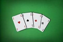 cards poker Arkivbilder