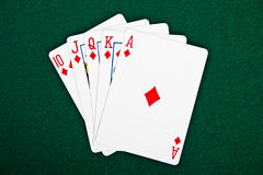 Cards for the poker. Royalty Free Stock Photography