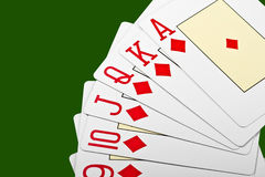 Cards for the poker. Royalty Free Stock Image