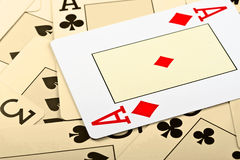 Cards for the poker. Stock Photography