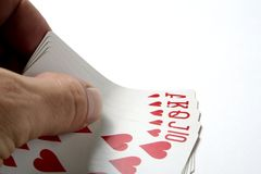 Cards poker blackjack Royalty Free Stock Photo