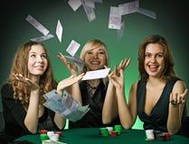 cards poker för kasinochipspelare royaltyfri bild
