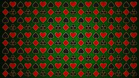 Cards and poker. Red & black texture Stock Photography